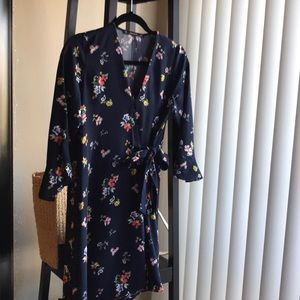 Zara flower pattern V-neck dress